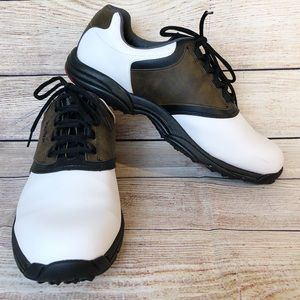 Footjoy Mens Size 13M GreenJoys Leather Golf Shoes